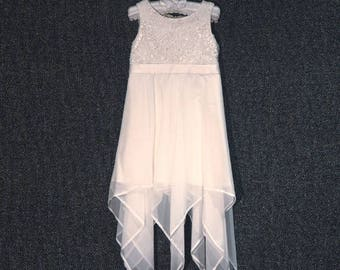 Amy beautiful handmade silk flowergirl dress