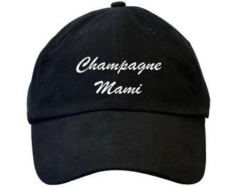 Champagne Mami Drake Dad Hat Black