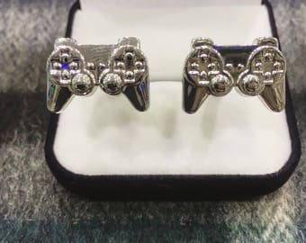 Game controller cufflinks - PS4 - Video Games Jewerly - Anniversary gift - Gift box included