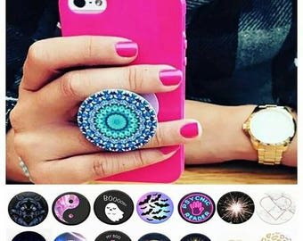 Pop socket, pop grip, mobile phone holding device accessories, iPhone Samsung android apple, mobile phone holder iphone