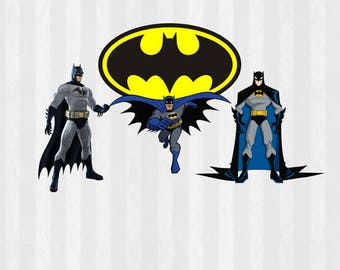 Batman Bundle SVG, Batman Digital Clip Art, Batman svg, PNG Files, SVG Files for Silhouette Cameo, Superhero svg, Scrapbook, diy party