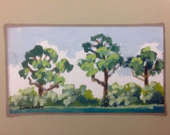 Southern Pine Trees  Upland Florida  Southern Pine Trees Painting  Landscape Agricultural Art