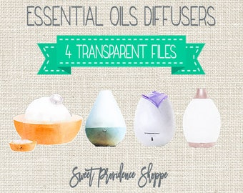 Essential Oil Diffusers, Essential Oil Clip Art, Essential Oil Diffuser Clipart, Diffuser Clip art, Oil clipart, Instant Download
