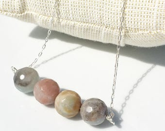 Amazing Amazonite Necklace with Sterling Silver Chain