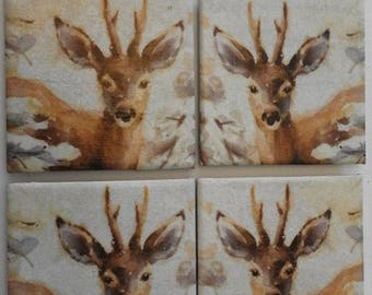 Stag Tile Coasters