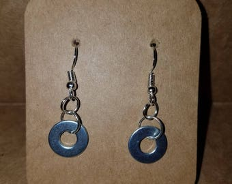 Industrial Washer Earrings