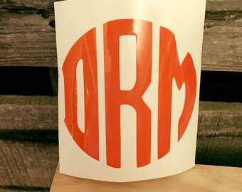 Monogram stickers for car, mugs/cups, coolers, and much more!