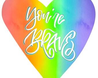 Gay Pride Art Print (JUNE LIMITED!)