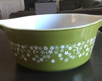 Pyrex Spring Blossom Crazy Daisy 475B 2.5 Qt Cinderella Casserole Bowl