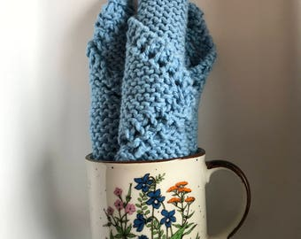 Hand Knit Dishcloths for Kitchen or Bathroom Made with cotton