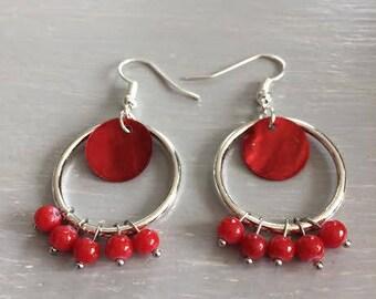 Earrings red earrings
