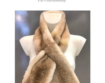 Fur scarf - Unisex Pahmi tie / Scarf in Pahmi Fur