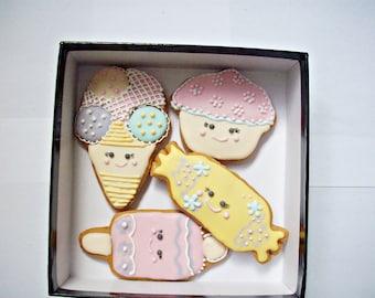 set of decorated cookies, children cookies