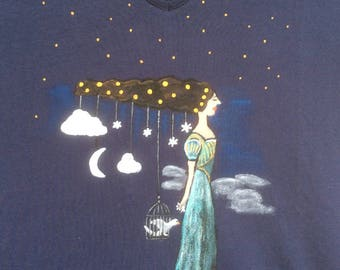 """Constellation"" t-shirt, size XXL (44-46)"