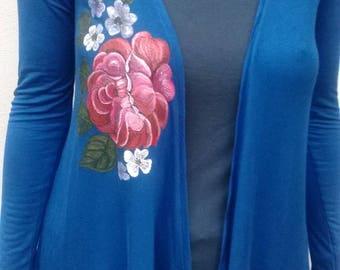 Blue long jacket, size 2, single model