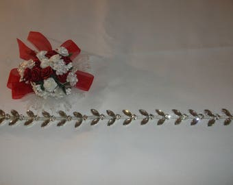 Silver/Rhinestone Decorating Trim