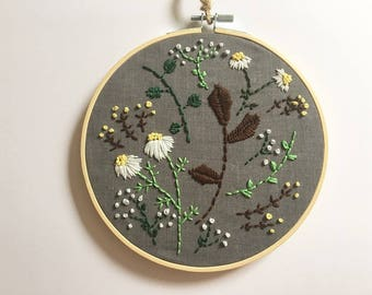 """7"""" Embroidery Hoop Art"""