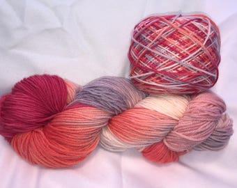 Love Struck, DK Weight, Hand Painted, Multi Color, Hand Dyed Yarn, Superwash Merino, Yarn