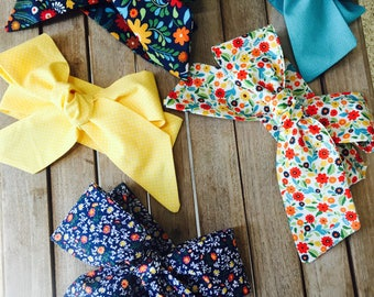 Floral/ Polkadots print Headwraps/ Summer accessories