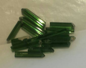 10.2ct parcel of facet grade eyeclean tiny green tourmaline crystals for wirewrapping or jewellery use