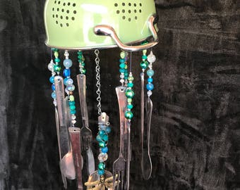 Recycled silverware windchime