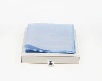 de MORÉ - pale blue Pocket square