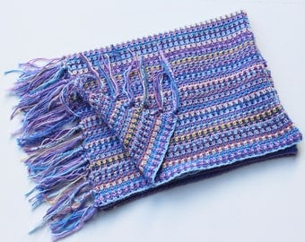 Periwinkle Striped Baby Blanket