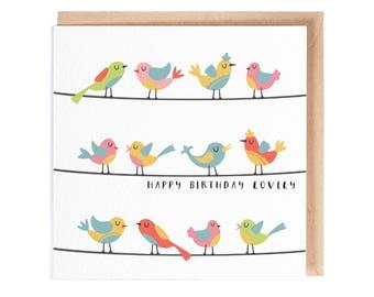 Happy Birthday Lovely - Greeting Card - Birthday Card - Folio - thisisfolio - Stationery