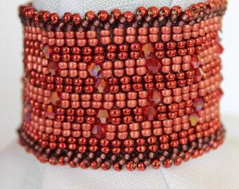 Copper Crystal Cuff