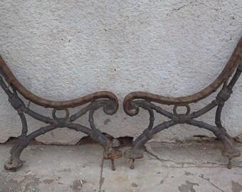 Ep art nouveau cast iron bench