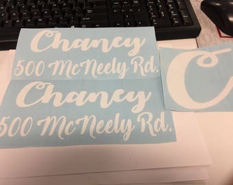 Personalized mailbox decals