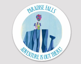 PARADISE FALLS - UP! Inspired Sticker/Decal