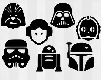 Star Wars SVG Bundle, Star Wars clipart, Star Wars cut files, svg files for silhouette, files for cricut, svg, dxf, eps, cuttable design
