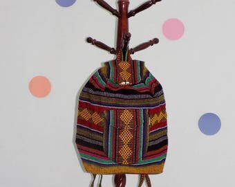 Handmade backpack ,Colorful backpack ,Mexican woven backpack, Mexican mochila, Mexican fashion
