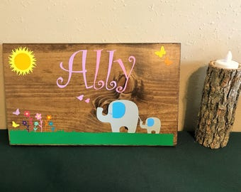 Custom Girls Name Plaque