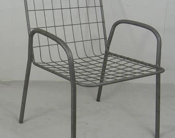 small chair child 1970 vintage bertoia style wire