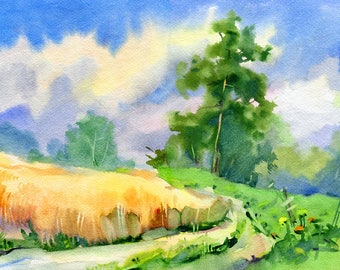 Landscape Watercolour Painting Q36