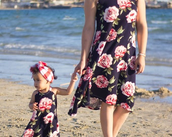 mommy and me dresses mother and daughter matching clothes mum and baby skirts dresses leggings wholesale baby fashion matching floral dress