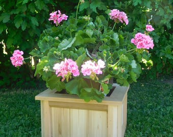 Cedar Planter Box , Western Red Cedar Box , Planter Box , Flower Box , Wooden Planter