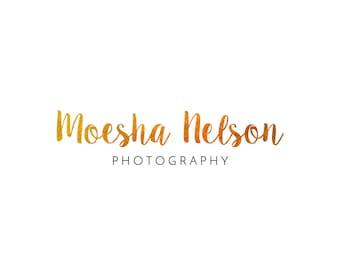 Pre-made Logo Design - Gold Foil Logo - Photography Logo - Photography Watermark - Branding Package - Business Branding