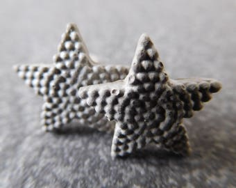 Concrete starfish stud earrings / starfish earrings, concrete jewelry, starfish jewelry, concrete, starfish studs, earrings for women