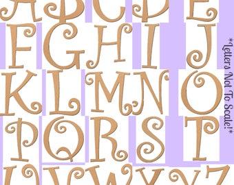 """13.5"""" Rosette Monogram (Curlique)"""
