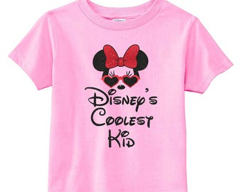 Disney's Coolest Kid - Minnie Mouse - Minnie Mouse Sunglasses - Disney Baby - Baby Girl Clothes - Disney Toddler