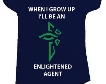 Ingress Enlightened BodySuit Onesie - available in many sizes and colours for newborns, babies and toddlers