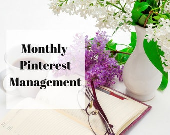 Pinterest Monthly Management  Pinterest Support  Pinterest basic  Pinterest Services