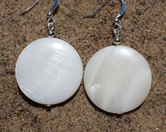 Round White Pearl Earrings