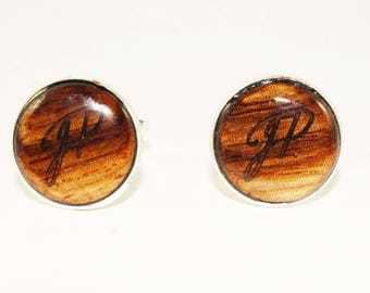 Bocota wood cufflinks
