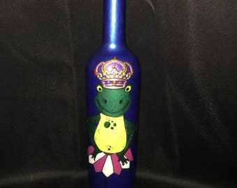 Frog Prince Painted Bottle