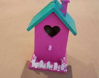 Hand-Painted - Birdhouse - Bright Colors