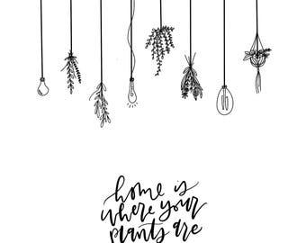 Plant//home//decor//calligraphy//print